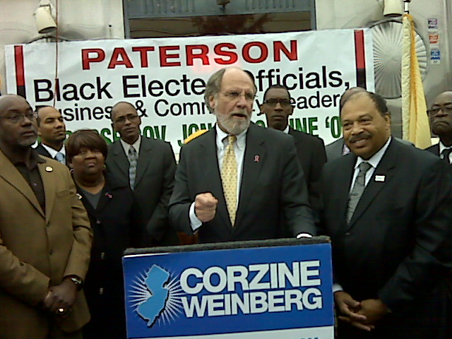 After face time with Corzine in Paterson, Jones formally backs his reelection