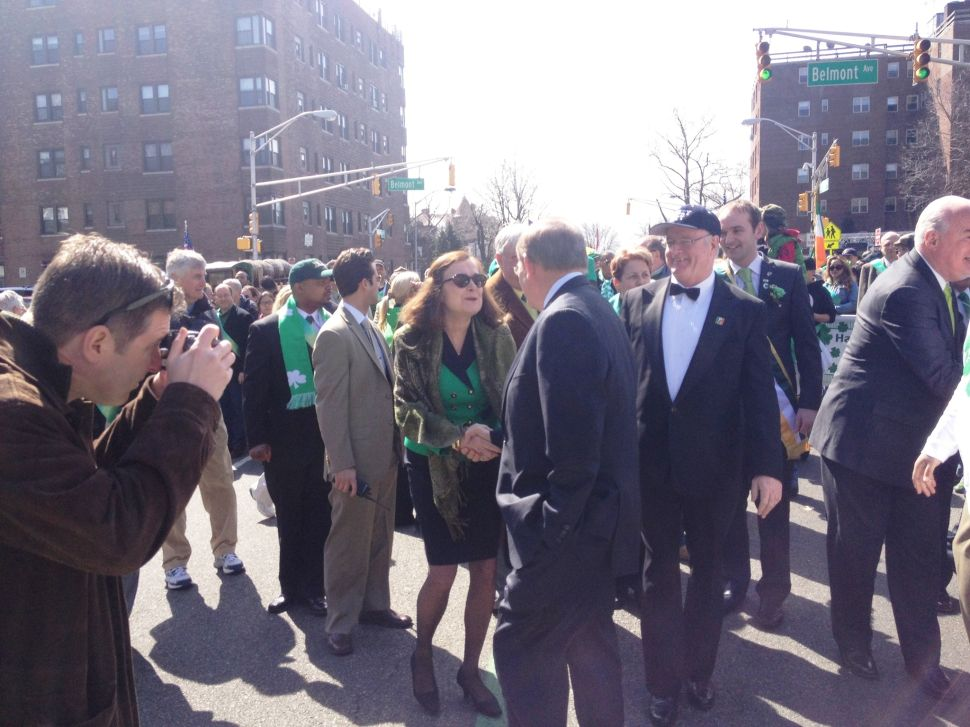 At St. Pat's Parade, Healy goes for Obama association with Healy