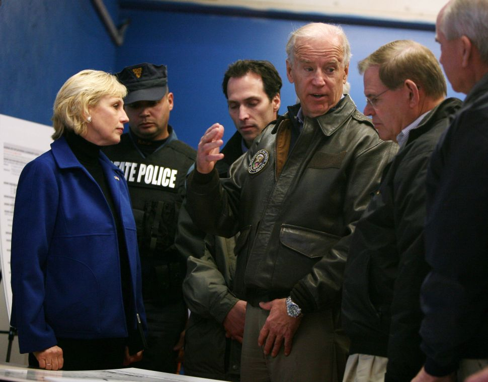 Biden joins Guadagno and Menendez for damage assessment of Hurricane Sandy