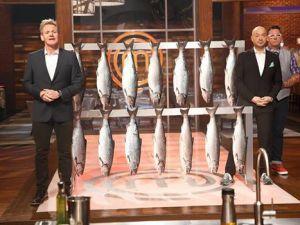 Reeling it in with Gordon Ramsay on MasterChef. (Fox)