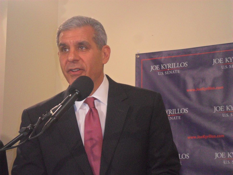 Kyrillos appears with Cunningham in JC; senator says she has not endorsed anyone