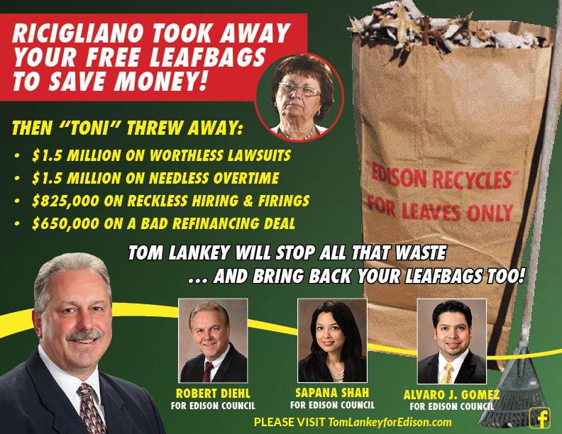 Leaf bag mayhem in Edison mayor's race