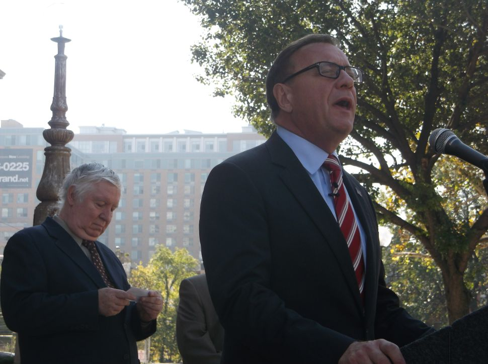Lonegan lands in Jersey City one day out