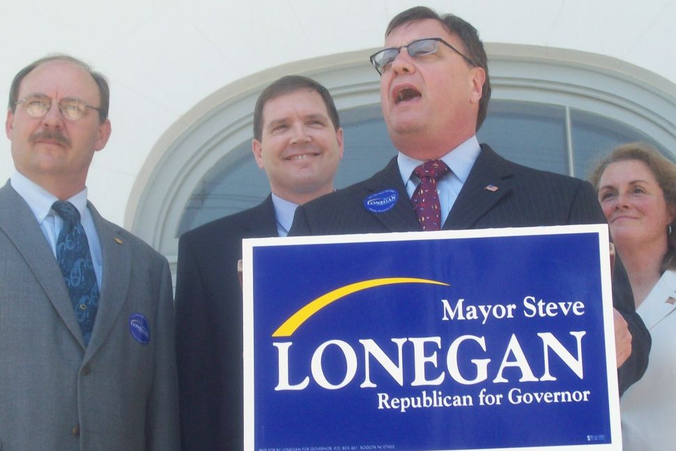 Fellow GOP renegades Lonegan and Doherty meet on the Courthouse steps in Hunterdon