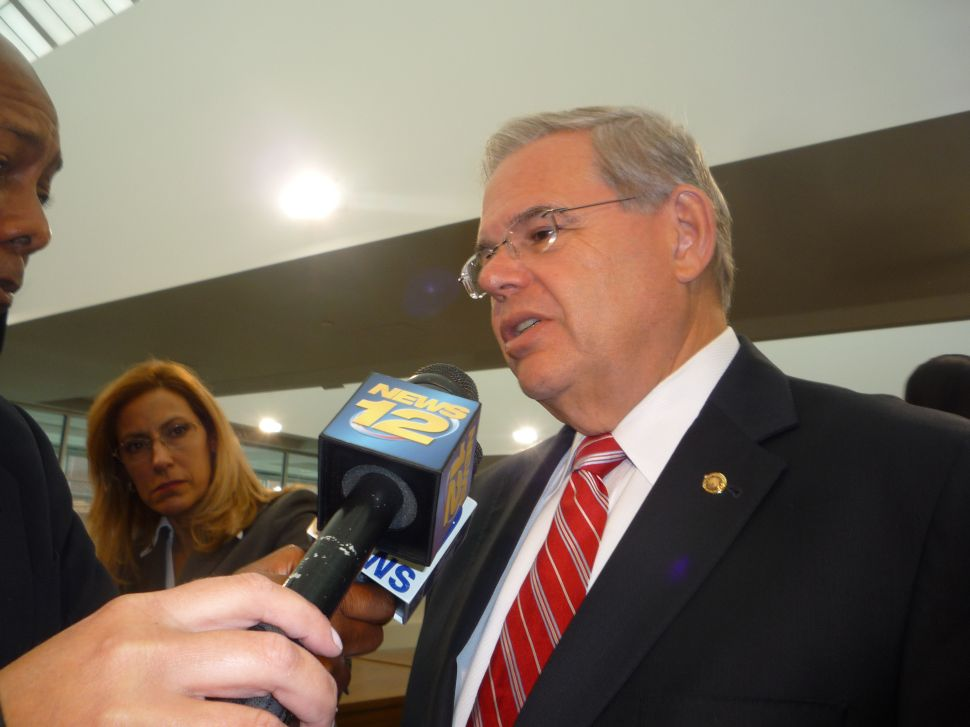 Menendez battles on the floor for autism act
