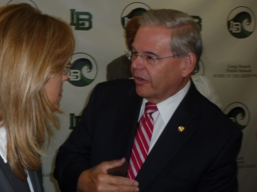 For Menendez, another first