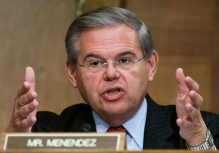 Menendez comes out swinging