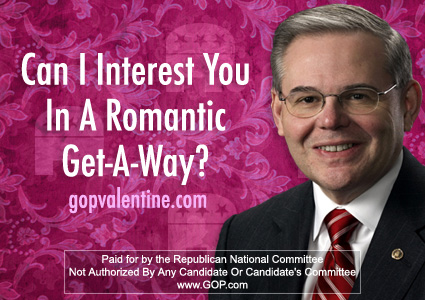 Menendez and Booker featured in RNC Valentine's Day cards