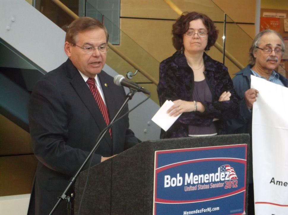 Menendez won't campaign in Miami-Dade