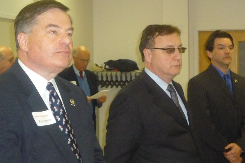 Merkt and Lonegan take the stage with Brown at North Plainfield GOP screening