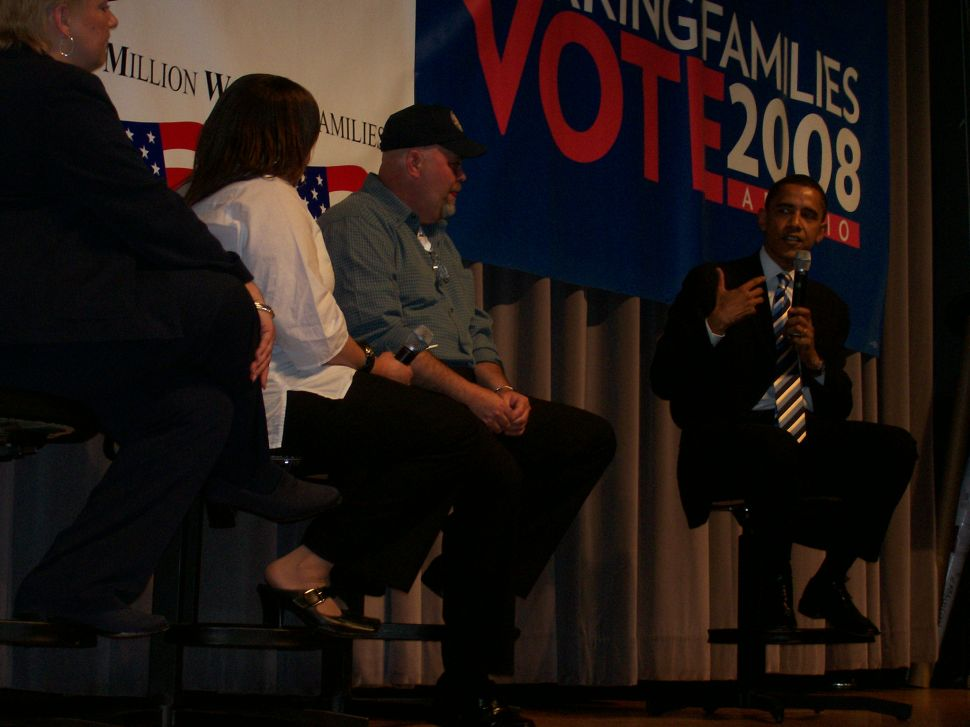 Obama makes first Jersey campaign stop