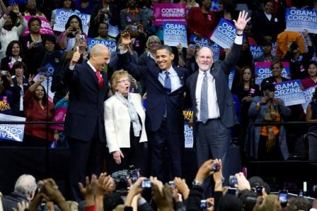 Obama builds up Corzine, pans Christie as a 'trickle-down' apologist