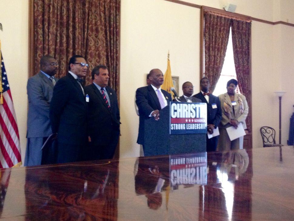 Bishop Jackson endorses Christie