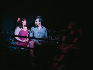 "Sharon Counts and Ryan Rickenbach in ""eHarmony."" (Brian T Scott)"