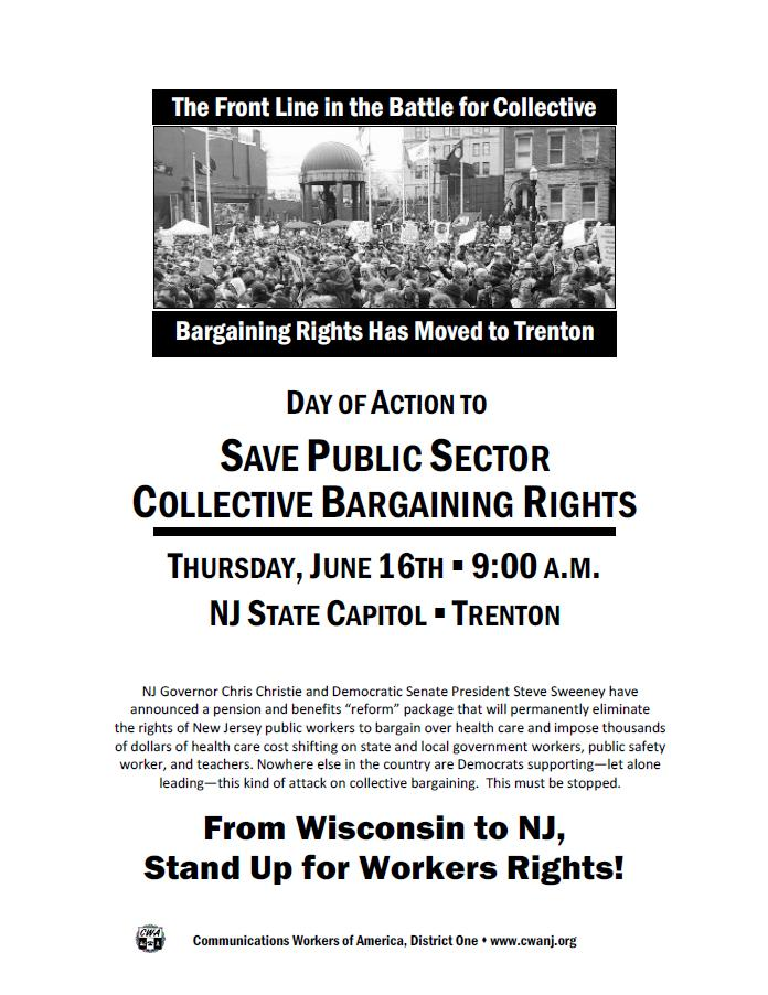 CWA distributes flyer for Thursday rally