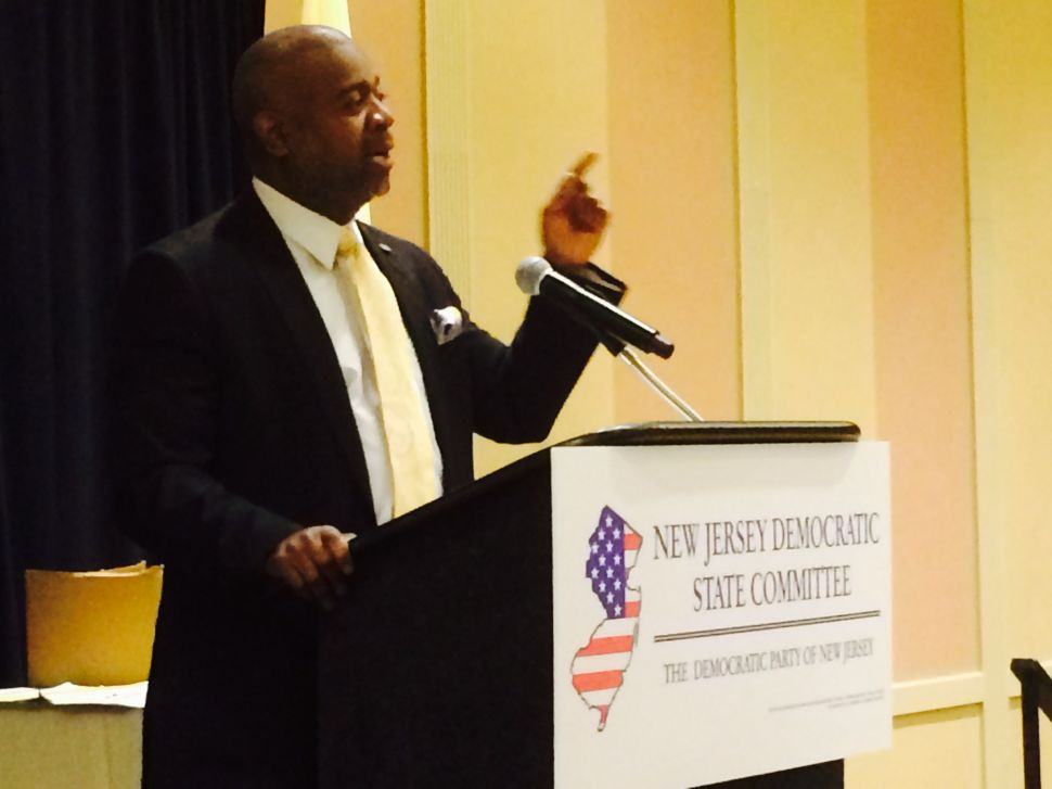In fiery speech, Baraka calls on New Jersey state Dems to rise up while Sweeney looks on
