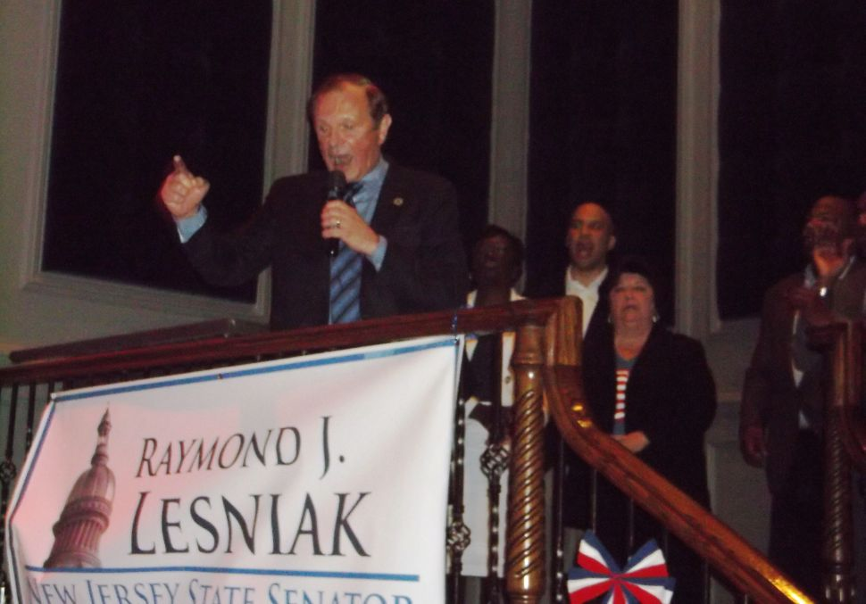 Not commenting on Sweeney fight, Lesniak focuses on primary; as Cryan, deprived of primary, fights Sweeney