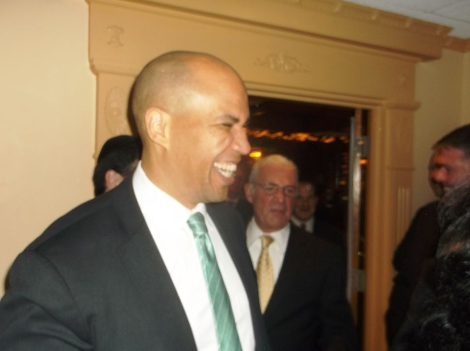 Booker helps Schaer raise $80K but no one closer to knowing if it's governor or senator