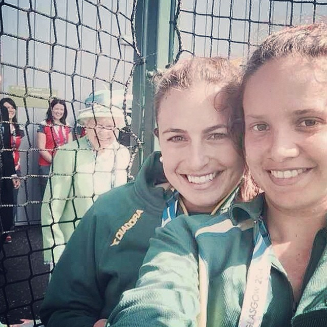 Queen of England Stages Spectacular Instagram Photobomb