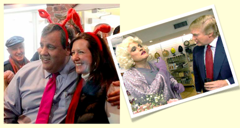 February 24, 2013: Governor Forced to Dress like Lobster to  Obtain  Endorsement of Monmouth  County Mayor
