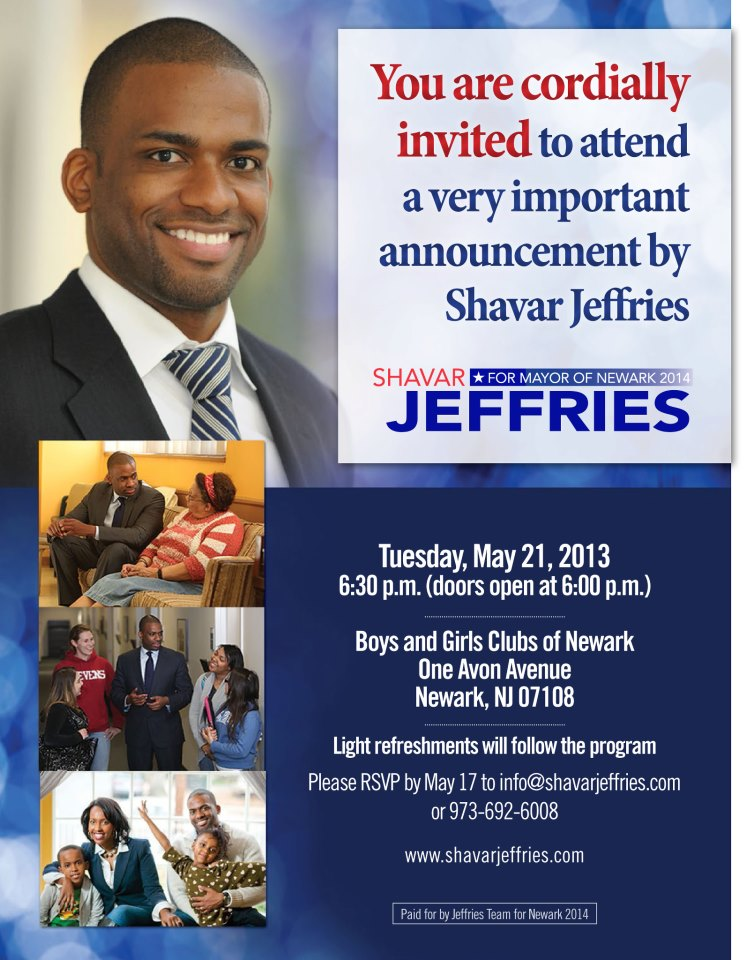 Jeffries primed to formally launch 2014 campaign for Newark mayor