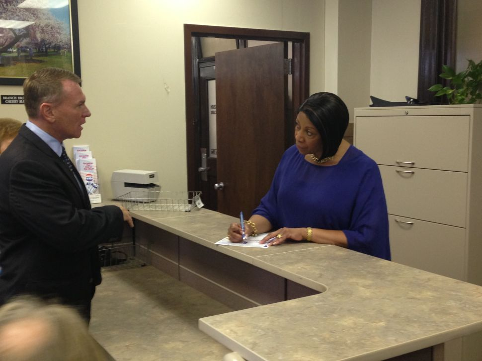 U.S. Senate candidate Oliver votes by mail