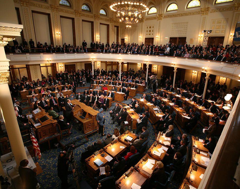Legislature in session today