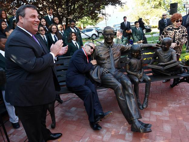 Adubato honored as statue unveiled in Newark: Christie, Booker, DiVincenzo pay homage, show respect