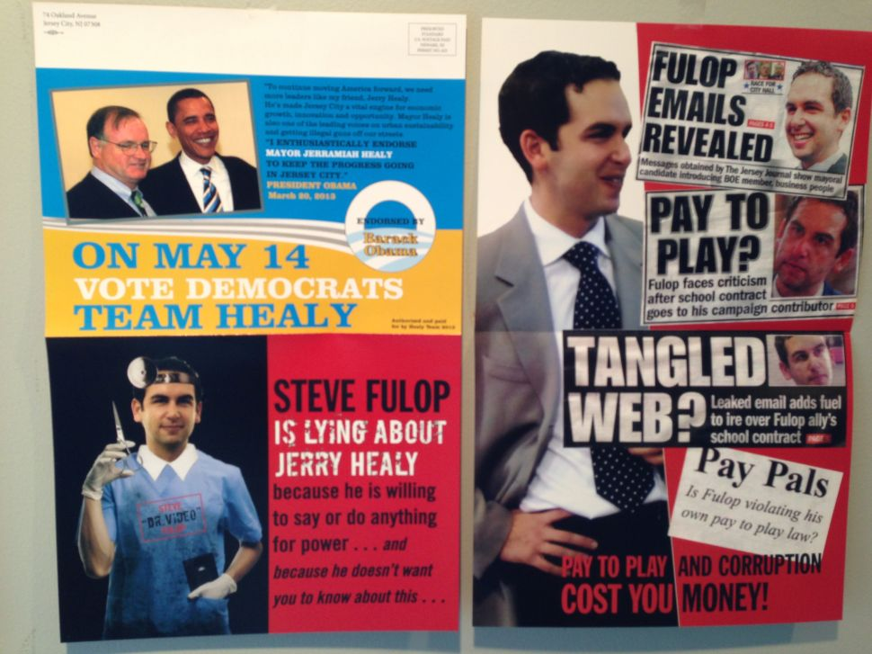 Healy counterattacks in mailer