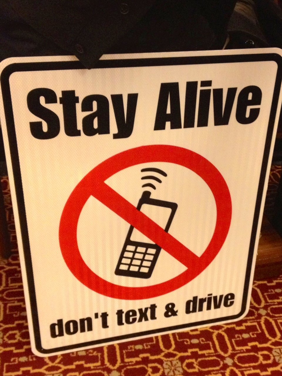 Don't text and drive sign bill clears Assembly panel