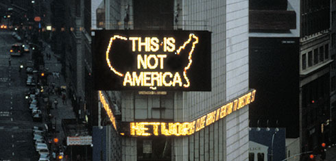A Logo For America (Courtesy of the artist and Galerie Lelong, New York)