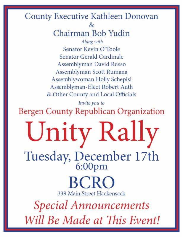 Long bruised Bergen GOP signals unity with scheduled rally