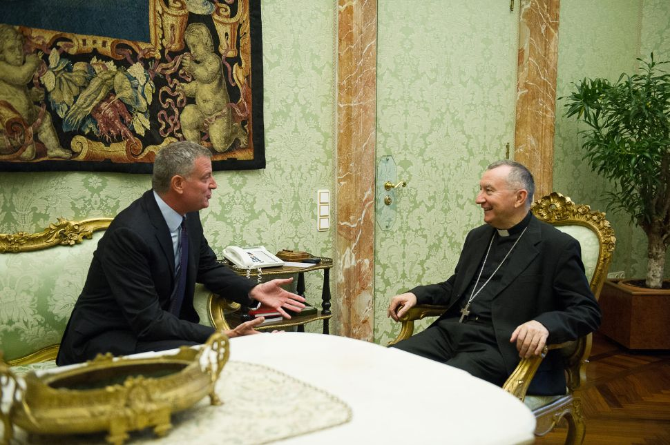 Bill de Blasio Makes In-Person Pitch for Papal Visit to New York City