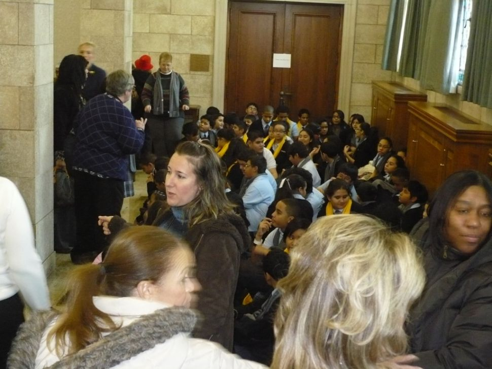 Overflow crowd for school voucher hearing