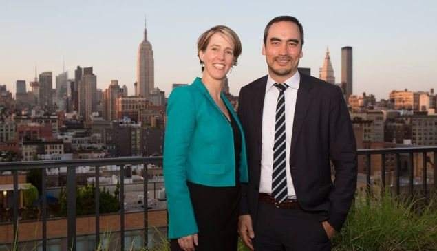 Zephyr Teachout with Tim Wu. (Photo: Facebook)