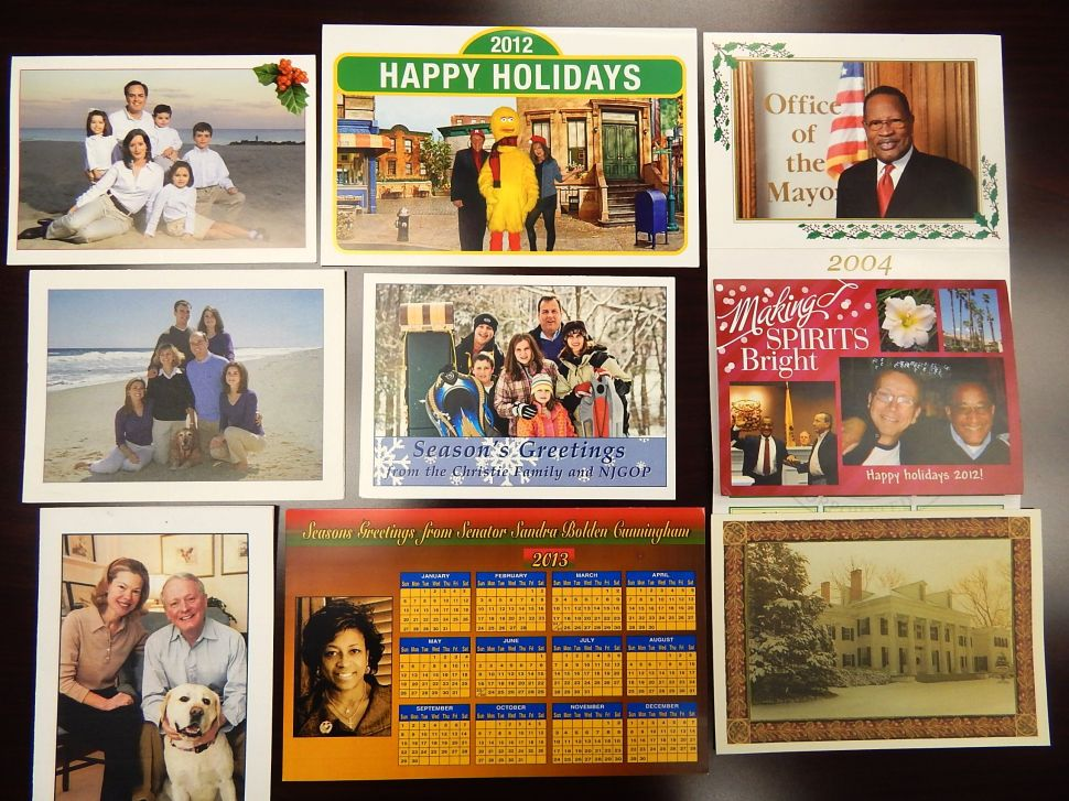 Favorite NJ Politicians' Holiday Greeting Cards from Yesteryear