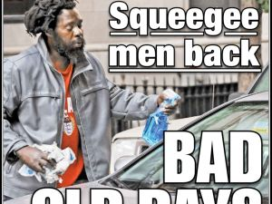 New York Post Cover Squeegee Men