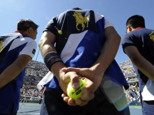 Ballboys the US Open (Photo by TIMOTHY A. CLARY/AFP/Getty Images)