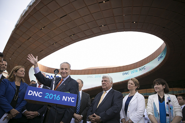 Schumer Mocks Other Cities as Brooklyn Vies for Convention