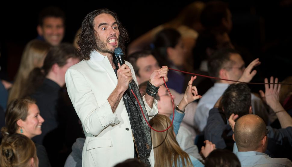 Russell Brand Doubles Down—Moves From Anti-Israel to Jewish Stereotypes