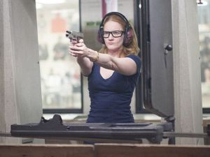 Abby on the range. (Showtime)