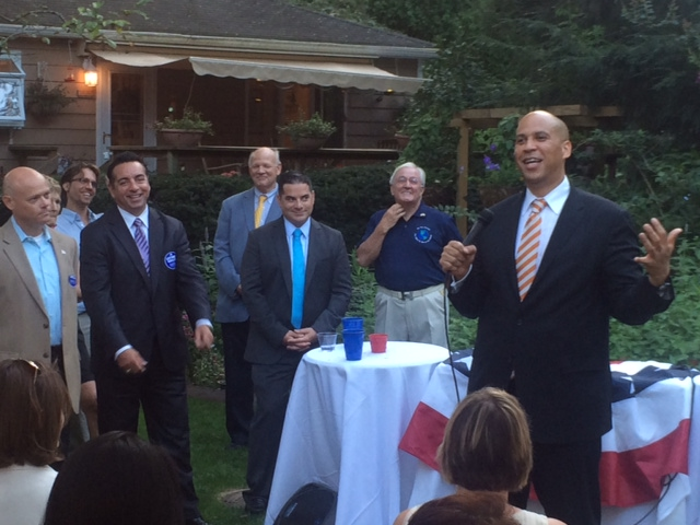 Booker backs up Monmouth Democratic Freeholder candidates at Wall Twp. fundraiser