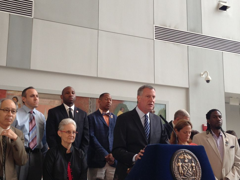 With Shootings on the Rise, de Blasio and Council Roll Out Anti-Violence Initiative