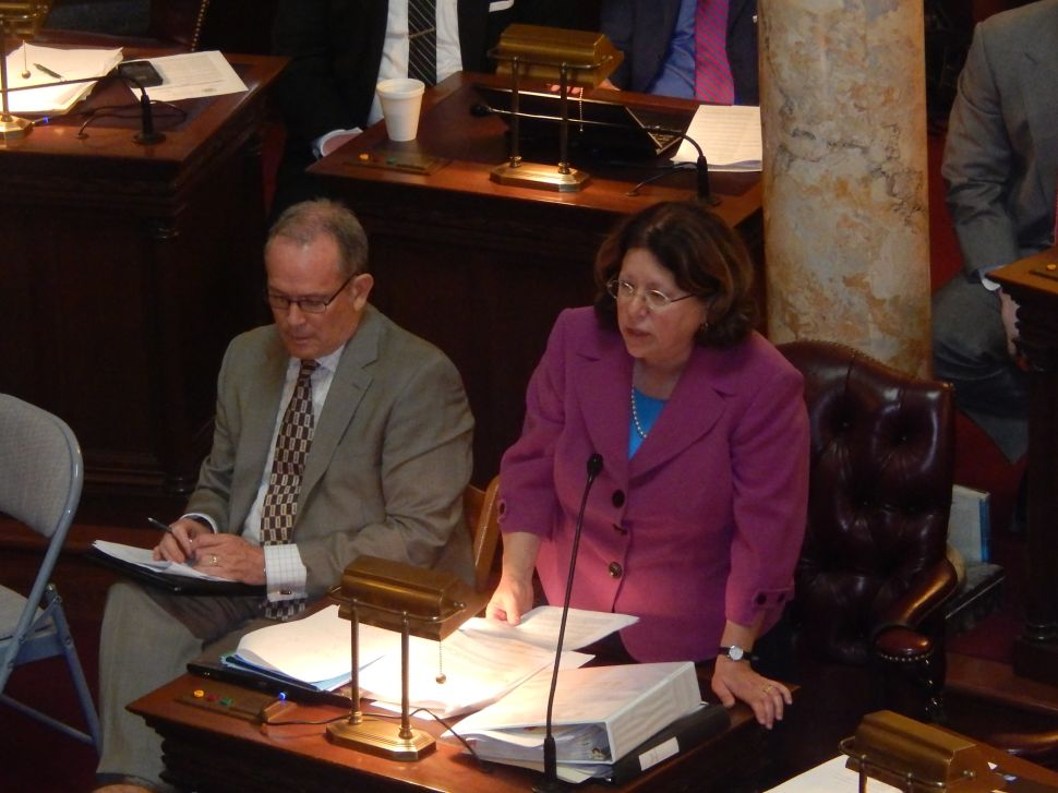 On party lines, senators debate the FY2015 Budget: O'Toole v. Greenstein