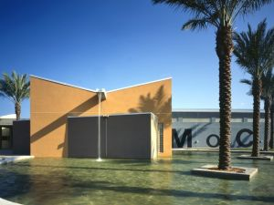 The front view of the (former?) Museum of Contemporary Art North Miami. (Courtesy MOCA)