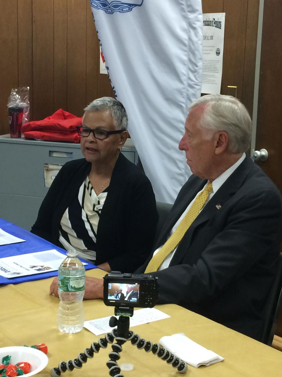 Hoyer stumps for Belgard, talks support for Democratic congressional contenders