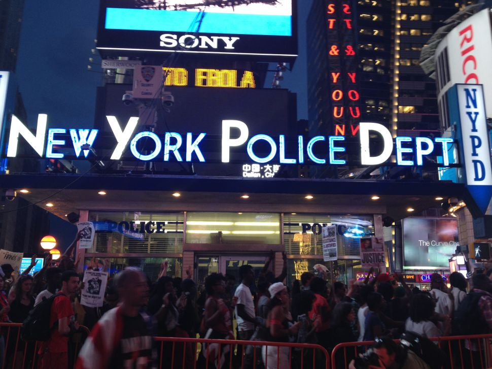 Hundreds of Protesters March Up Broadway Against Police Brutality