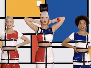 Katy Perry x Piet Mondrian. (Photo courtesy Idolator)