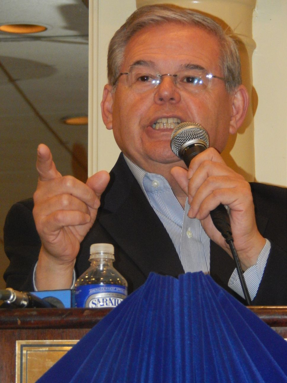 On Election Day in NJ, Menendez calls prez election in Syria a 'shameful mockery'