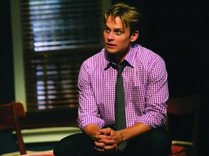 Billy Magnussen keeps his shirt on. (Photo by Joan Markus)